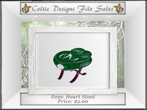 CD Heart Stool