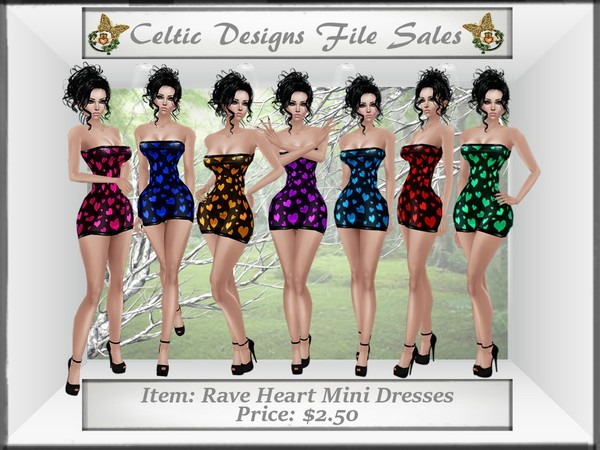 CD Rave Heart Mini Dresses Set