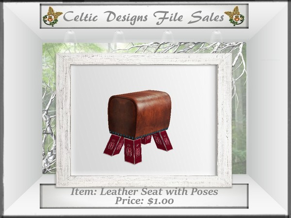 CD Leather Seat with Poses Mesh