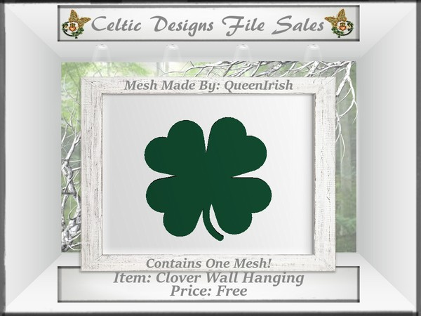 CD Clover Wall Hanging Mesh