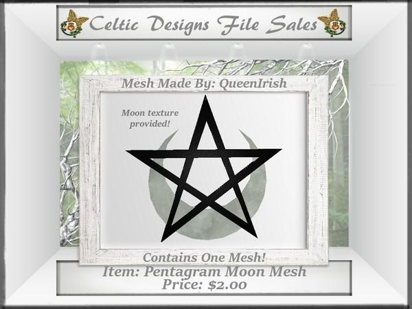 CD Pentagram Moon Wall Hanging Mesh