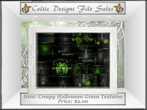 CD Creepy Halloween Green Textures