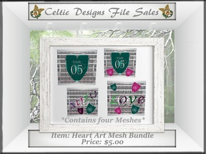CD Heart Art Mesh Bundle