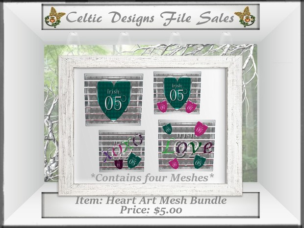 CD Heart Art Mesh Bundle