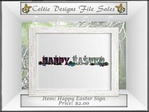 CD Happy Easter Sign V1 Mesh