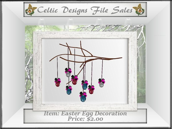 CD Easter Egg Decoration Mesh