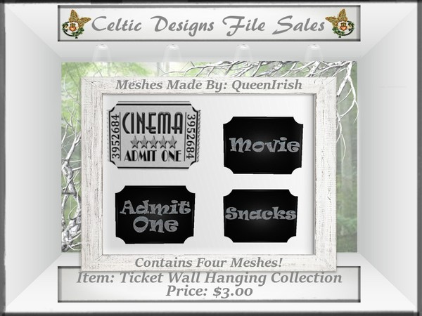 CD Ticket Wall Hanging Mesh Collection