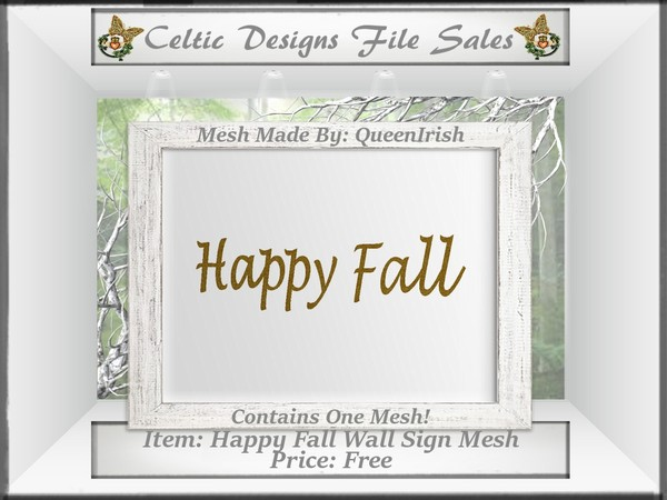 CD Happy Fall Wall Sign Mesh