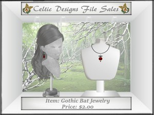 CD Gothic Bat Jewelry Meshes