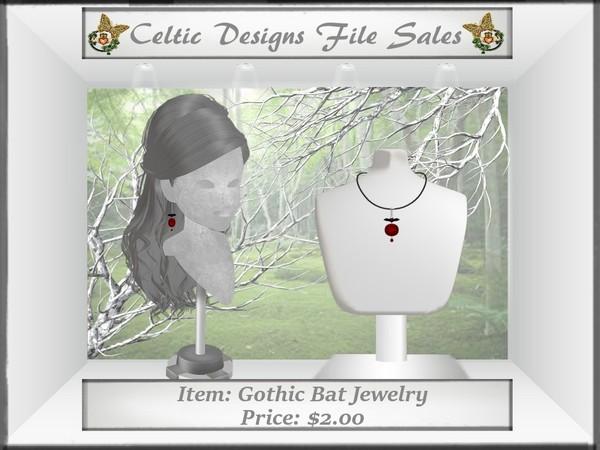 CD Gothic Bat Jewelry Meshes