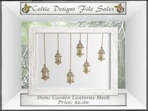 CD Garden Lanterns Mesh