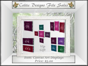 CD Canvas Art Displays