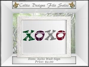 CD XoXo Wall Sign Mesh