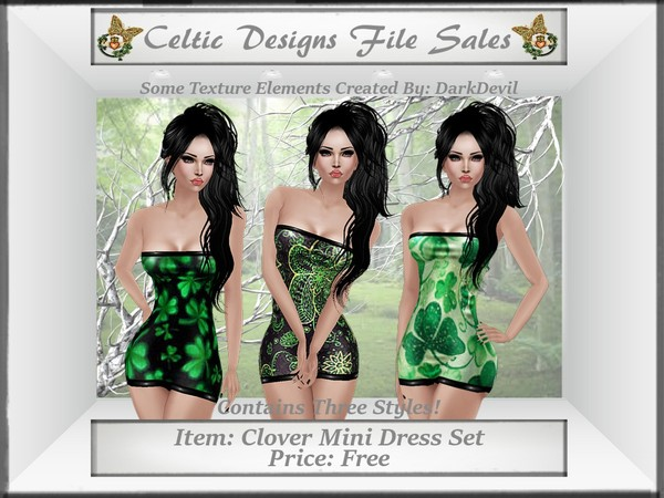 CD Clover Mini Dress Set