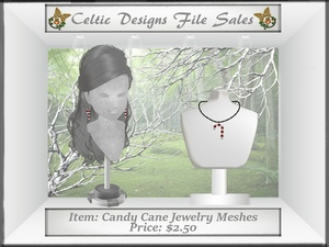 CD Candy Cane Jewelry Meshes