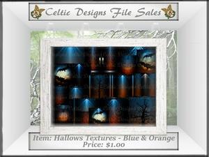 CD Hallows Textures - Blue & Orange