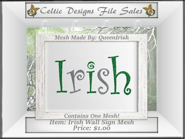 CD Irish Wall Sign Mesh