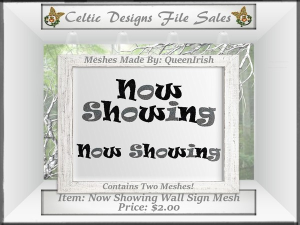 CD Now Showing Sign Mesh Collection