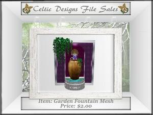 CD Garden Fountain Mesh
