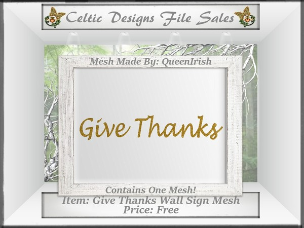 CD Give Thanks Wall Hanging Mesh