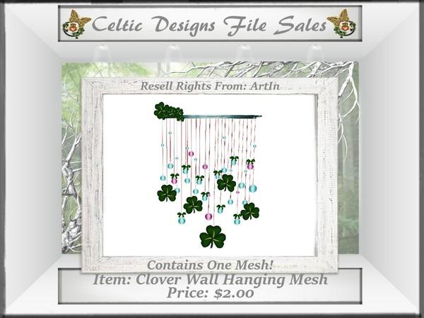 CD Clover Wall Hanging Mesh
