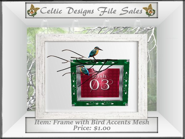 CD Frame with Bird Accents Mesh