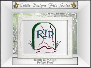 CD RIP Sign Mesh