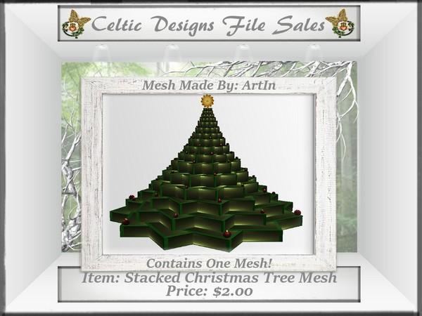 CD Stacked Christmas Tree Mesh