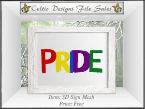 CD 3D Pride Sign Mesh