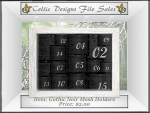 CD Gothic Noir Mesh Holders