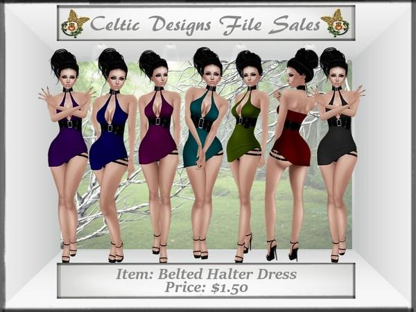 CD Belted Halter Dress