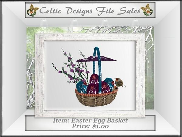 CD Easter Egg Basket Mesh
