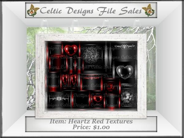 CD Heartz Red Textures