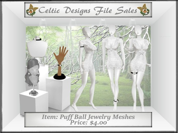 CD Puff Ball Jewelry Meshes