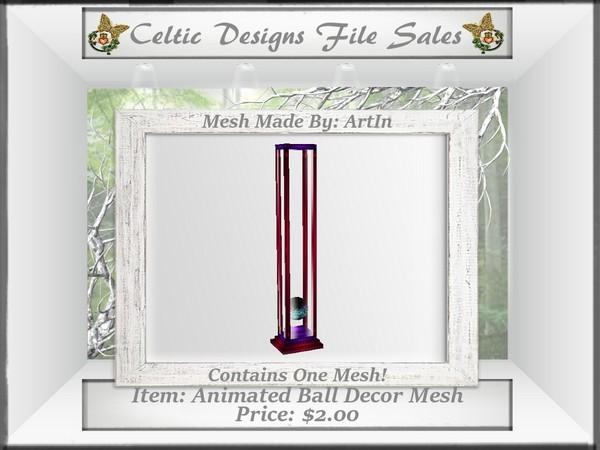 CD Animated Ball Decor Mesh