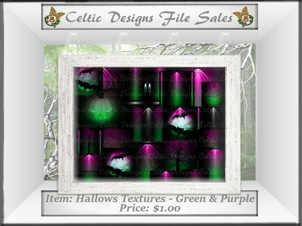 CD Hallows Textures - Green & Purple