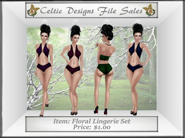 CD Floral Lingerie Set