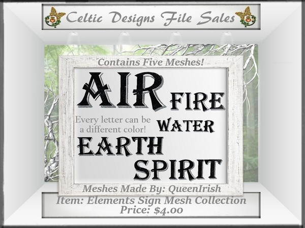 CD Elements Word Sign Mesh Collection