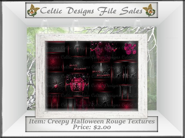 CD Creepy Halloween Rouge Textures