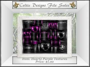 CD Heartz Purple Textures