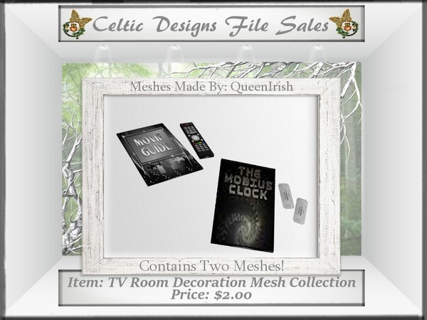 CD TV Room Decorations Mesh Collection