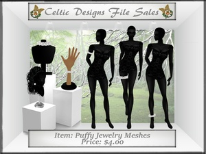 CD Puffy Jewelry Meshes