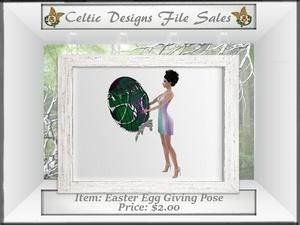 CD Easter Egg Giving Pose Mesh