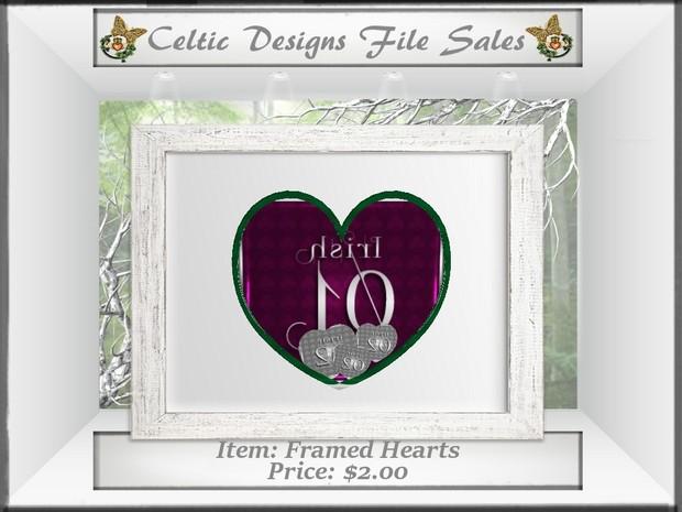 CD Framed Hearts
