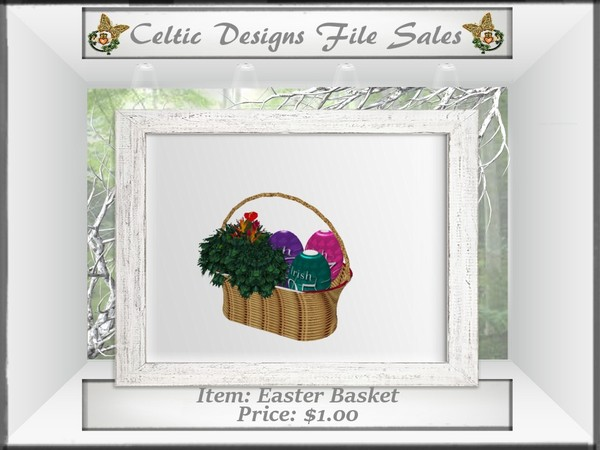 CD Easter Basket Mesh