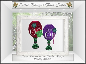 CD Decorative Easter Eggs Mesh