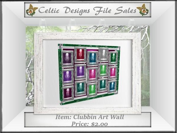CD Clubbin Art Wall