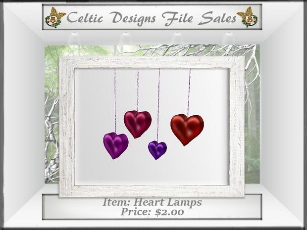 CD Heart Lamps