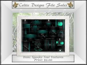 CD Spookz Teal Textures
