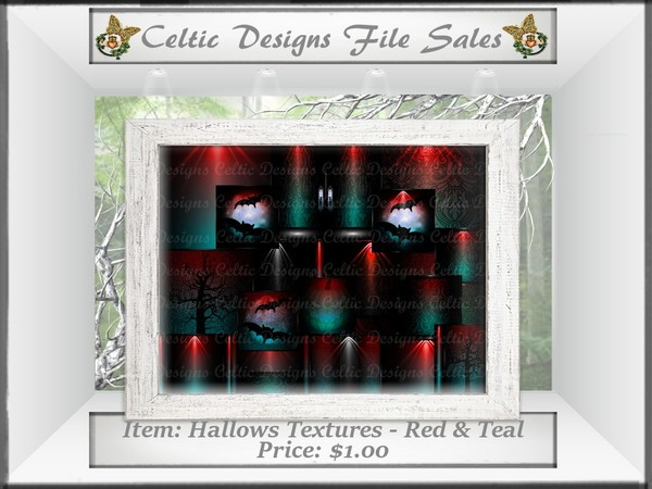 CD Hallows Textures - Red & Teal